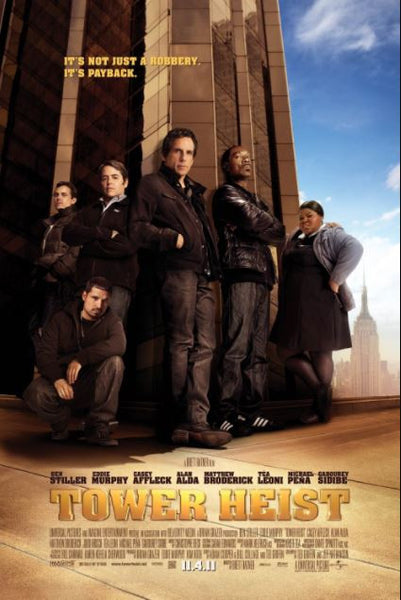 TOWER HEIST HD iTunes DIGITAL COPY MOVIE CODE ONLY - USA CANADA