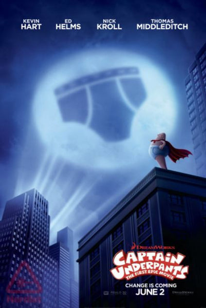 CAPTAIN UNDERPANTS THE FIRST EPIC MOVIE HD iTunes DIGITAL COPY MOVIE CODE