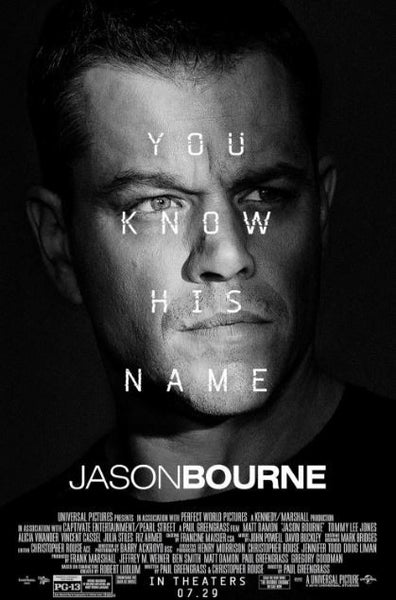 JASON BOURNE HDX UV ULTRAVIOLET DIGITAL MOVIE CODE