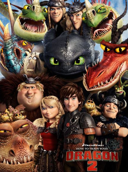 HOW TO TRAIN YOUR DRAGON 2 HDX UV ULTRAVIOLET or HD iTunes DIGITAL COPY MOVIE CODE