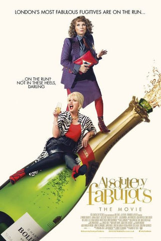 ABSOLUTELY FABULOUS THE MOVIE HDX UV ULTRAVIOLET or HD iTunes DIGITAL COPY MOVIE CODE