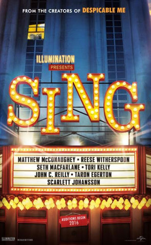 SING HDX UV ULTRAVIOLET DIGITAL MOVIE CODE