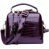 Genuine Leather Top Handle Messenger Bag Purse - Enchanted Mistress