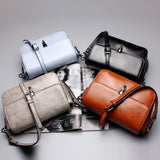Oil Wax Flap Vintage Genuine Leather Messenger Bags Cross Body Purse - Enchanted Mistress