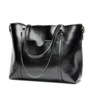 Luxury Oil Wax Retro Large Leather Shoulder Bag - Enchanted Mistress