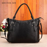 Fashion Leather Large Capacity Shoulder Bag Tote Purse - Enchanted Mistress