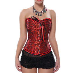 Over Bust Steampunk Gothic Corset Bustier With G-String Plus Size