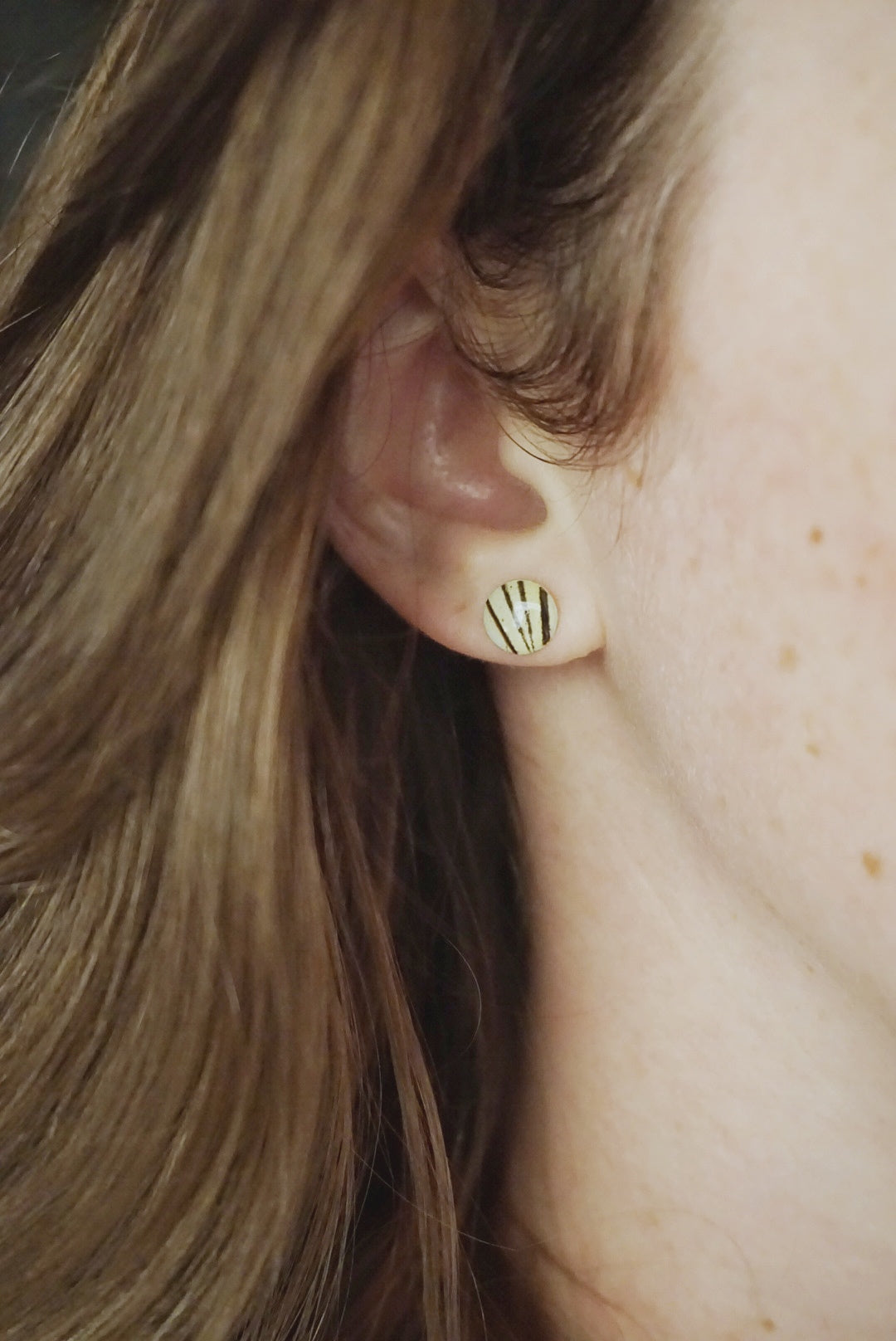 Lace Wing Butterfly Stud Earrings