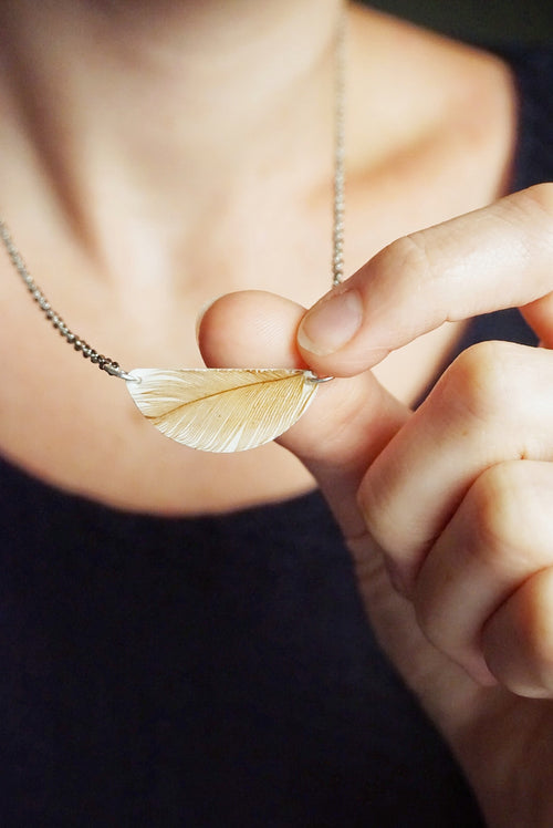 Chicken Feather Necklace