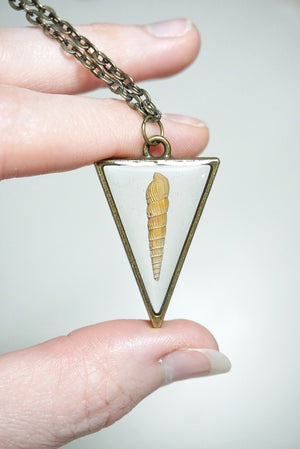 Shell Simplicity Triangle Necklace