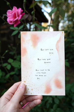 Peach Watercolor Motivational Quote Card