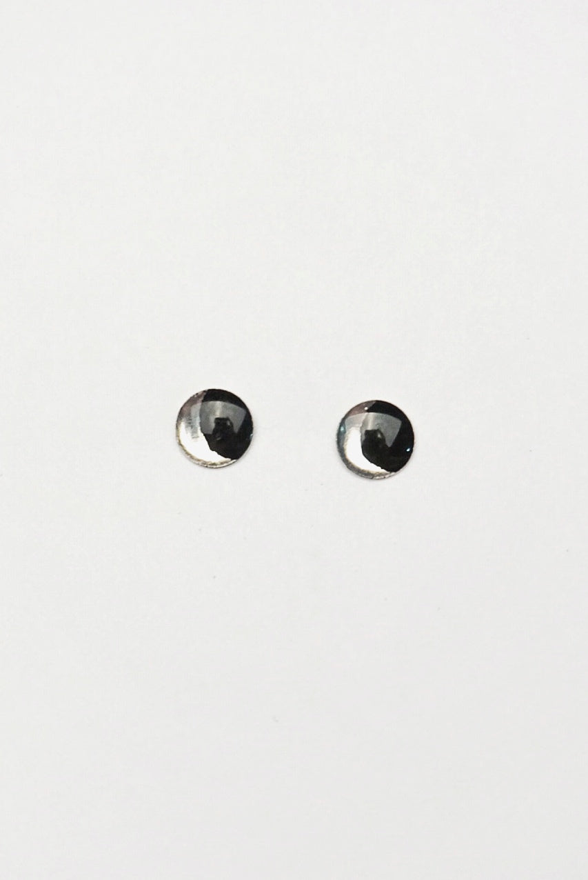 Silver Moon Mini Stud Earrings
