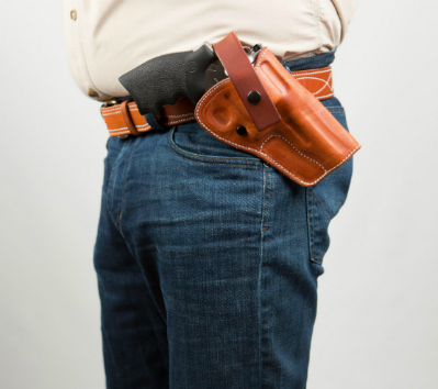 dual action leather gun holster