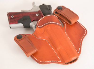 IWB semi-auto inside the waistband leather gun holster