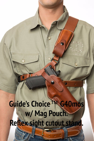 Glock 40mos Leather Chest Hunting Holster