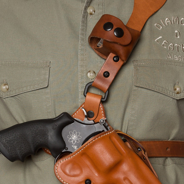 Guide's Choice™ leather chest holster speed loader pouch