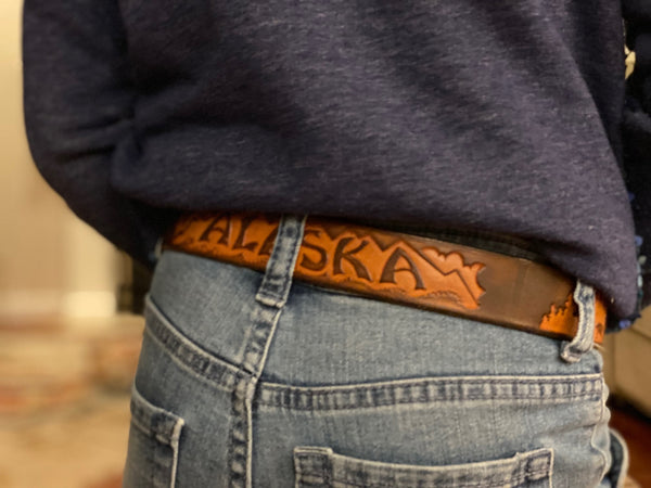 Alaska Souvenir Leather Belts