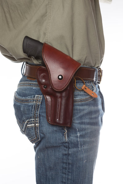 Leather Gun Hip Holster - Alaska Hunter Hip Holster