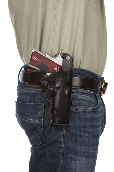 Leather Gun Hip Holster - HH12, Leather Hip Holster
