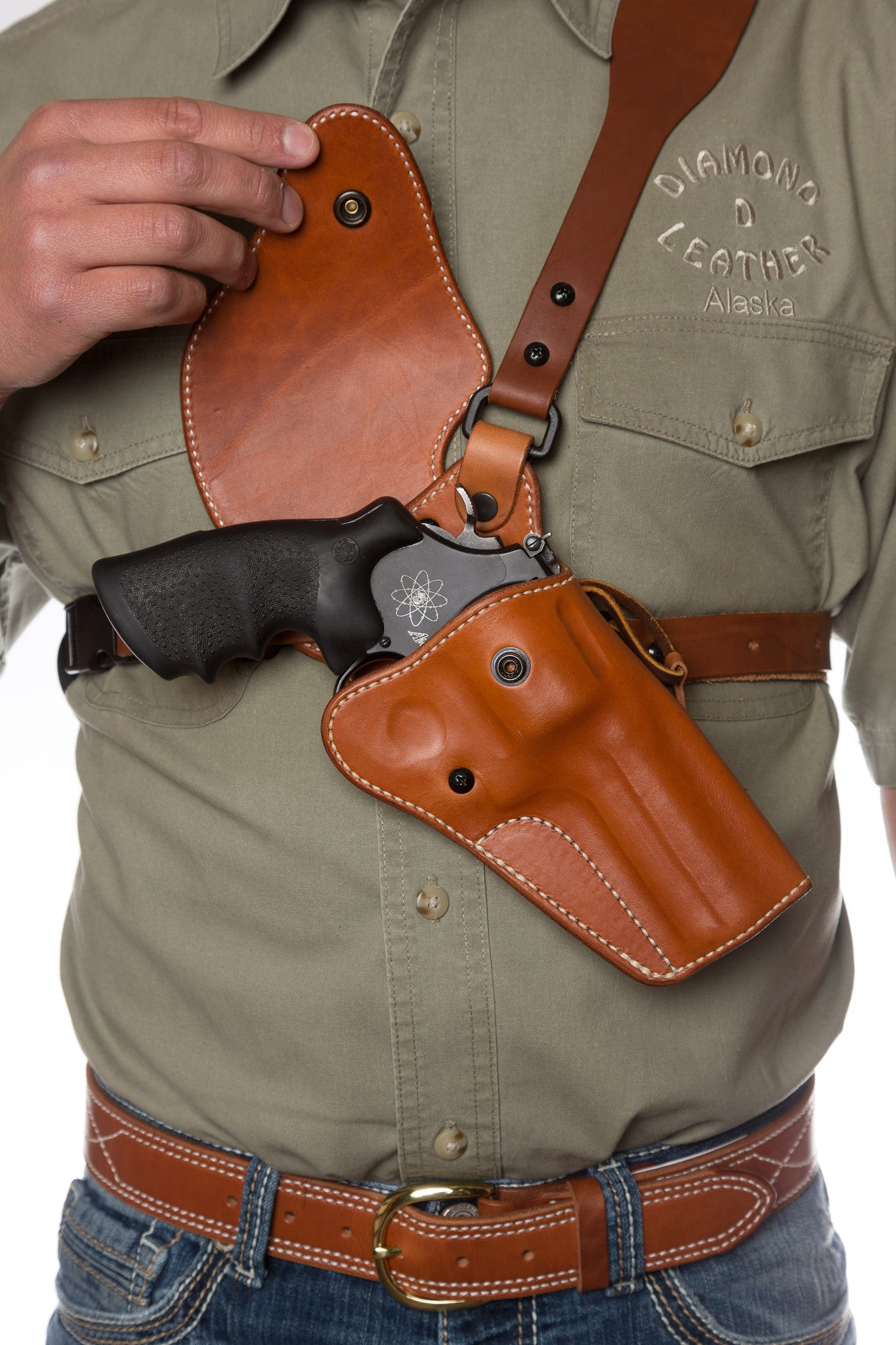Guides Choice™ Leather Chest Holster, the ULTIMATE outdoor gun
