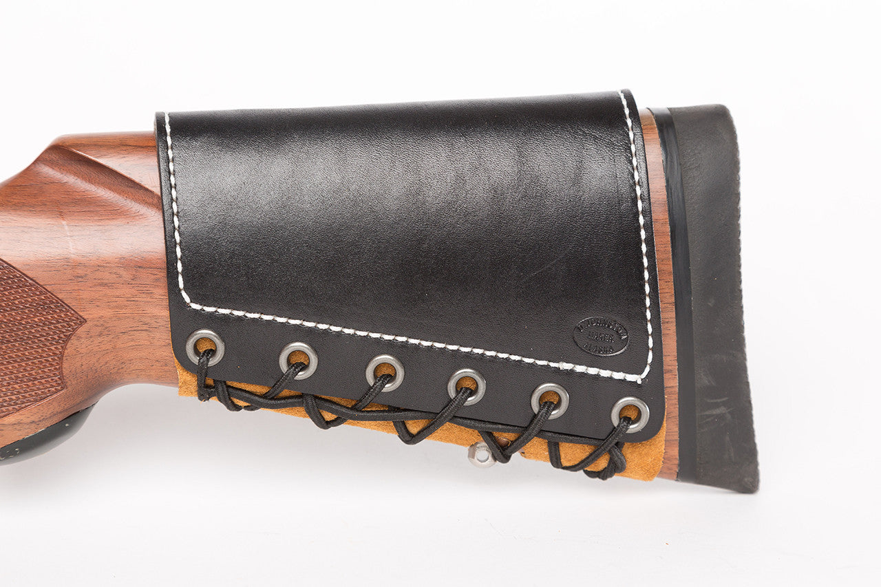 Custom Leather Rifle Stock Butt Cuff | Diamond D Custom