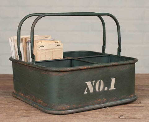 Number 1 Square Carry Bin w/ Handles