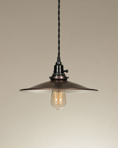 Dish Pendant Lamp - Aged Copper