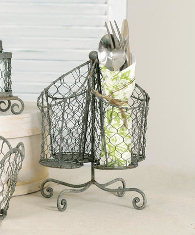 Chicken Wire Utensil Caddy