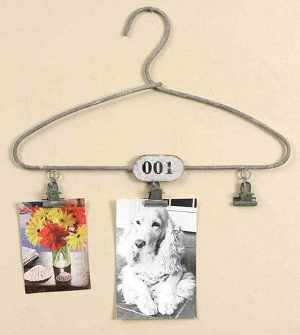 Vintage Clothes Hanger with Clips