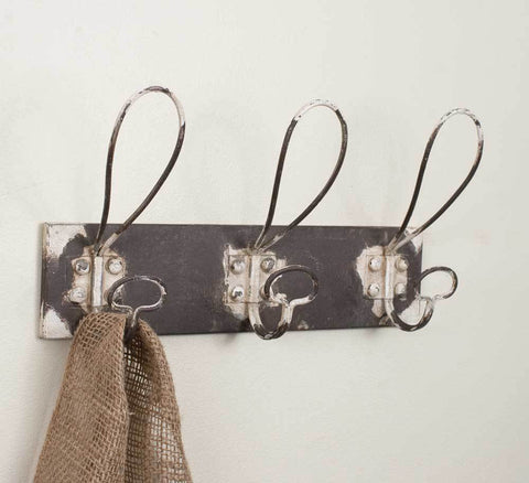 Three Hook Metal Coat Rack