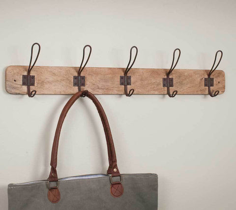 Rustic Wood Entryway Rack