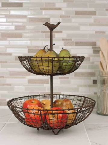 Two Tier Songbird Fruit Bowl