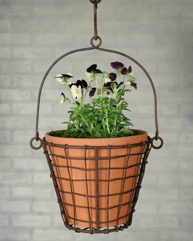 Round Hanging Basket and Pot