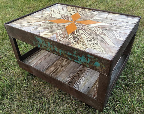 Iron Frame Coffee Table
