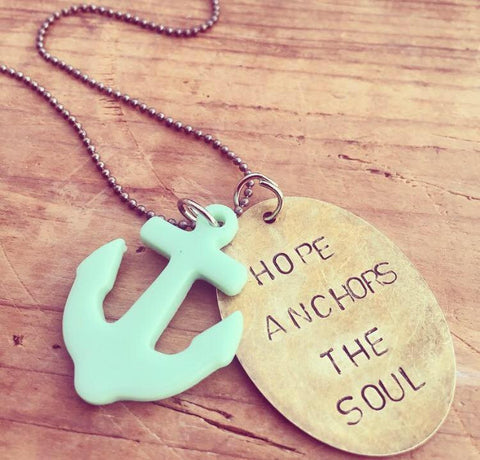 """Hope Anchors The Soul"" Necklace"