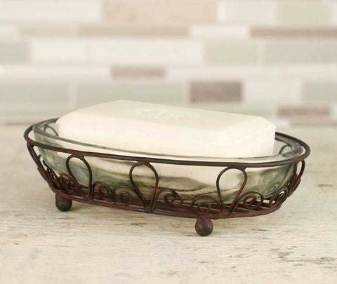Rustic Looped Oval Soap Dish