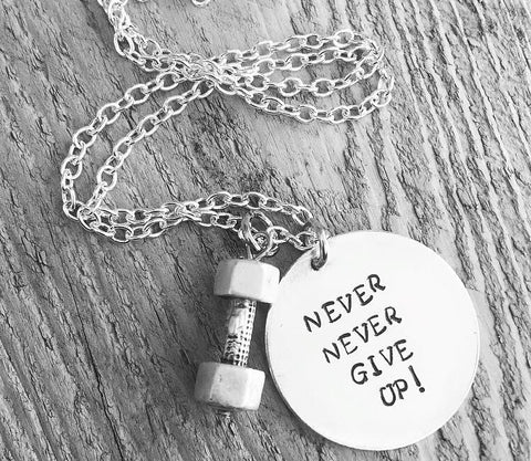 """Never Give Up"" Necklace"