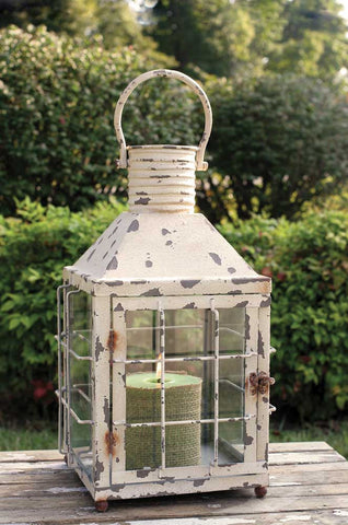 Rustic Cream Railroad Lantern