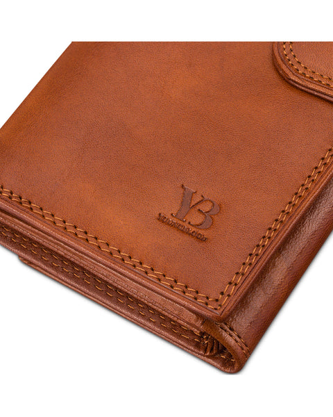 Italian Leather Compact Wallet