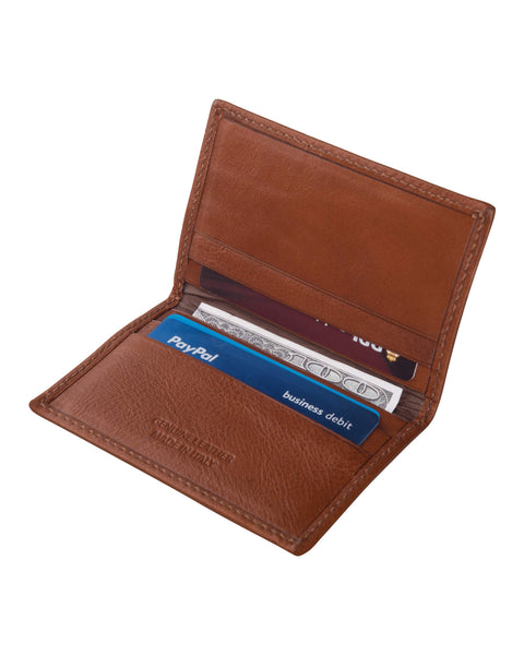 Brown Italian Leather Thin Wallet