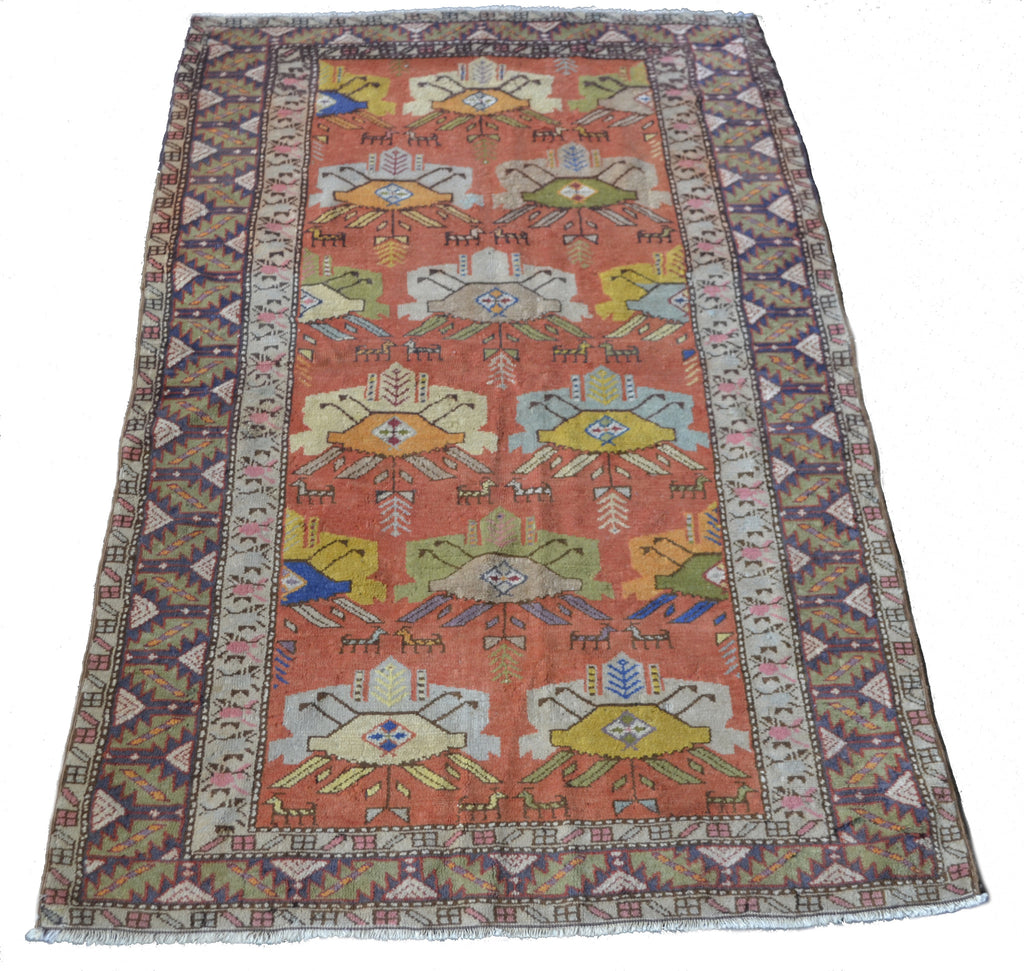 "4679 Turkish 3'10"" x 6'2"" - Soheil Oriental Rugs"