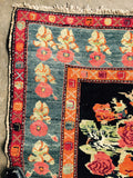 Turkish bird rug as a tapestry 4.6x7.1. #100555
