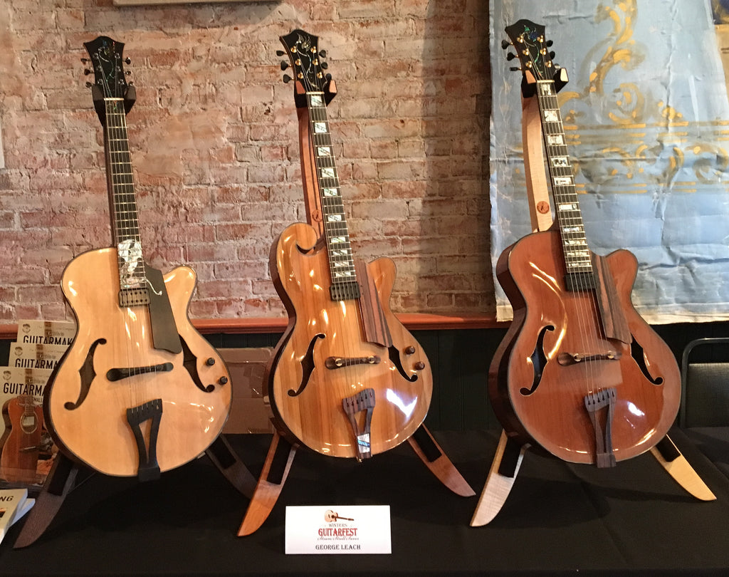Phoenix Guitars on Solid Ground Stands