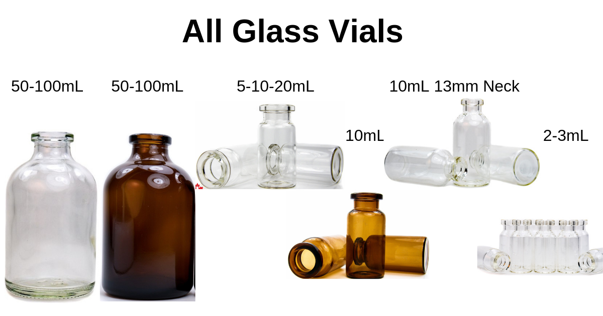 All Glass Vials