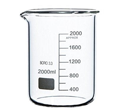 2000mL Glass Beaker - CanadianMedHealthSupplies