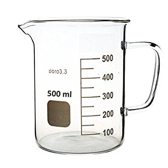 500mL Glass Beaker with Handle - CanadianMedHealthSupplies