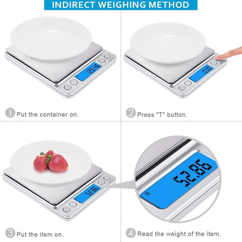 Smart Digital Pocket Scale. 0.01g to 500g (batteries included) - CanadianMedHealthSupplies