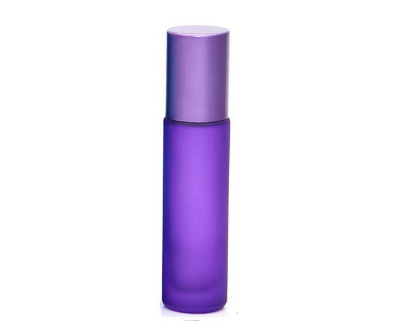10mL Frost Purple Glass Roller Bottle for essential oils from CanadianMedHealthSupplies