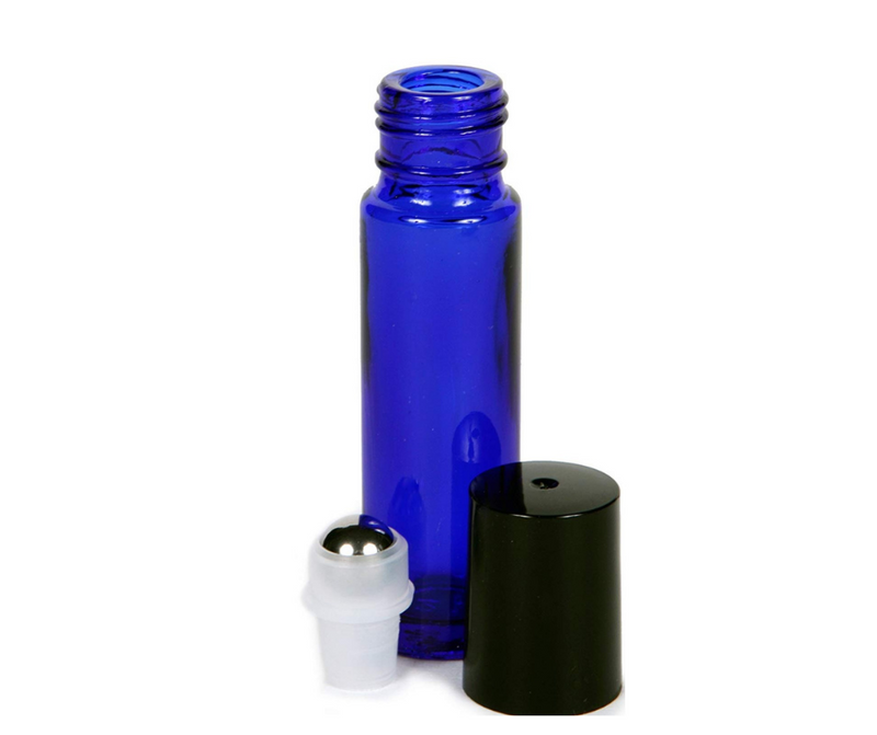 10mL Cobalt Blue Glass Roller Bottle