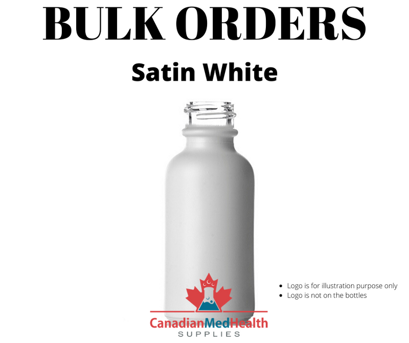 BULK ORDER 1oz (30mL) Satin White Glass Dropper Bottle With Dropper - CanadianMedHealthSupplies